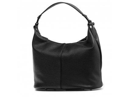 Kožená kabelka Febe černá
