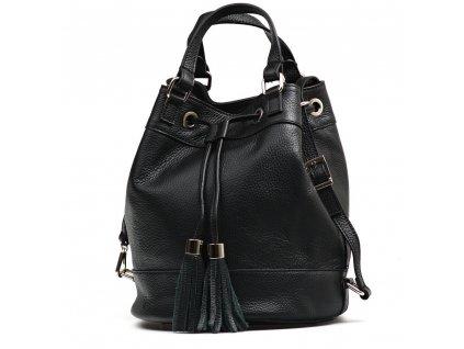 Kožená kabelka Cilly černá