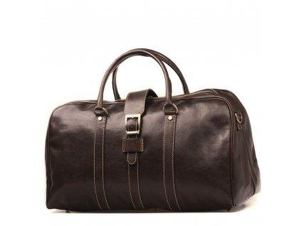 Kožená cestovní taška Modena hnědá