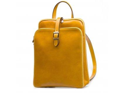Kožený batůžek Zanda žlutý