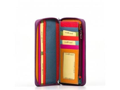 Kožená peněženka Jenny fialová