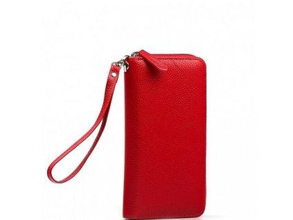 Kožená peněženka Jenny červená