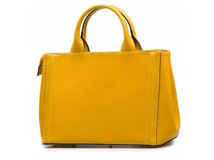 Kožená kabelka Zoe hořčicově žlutá