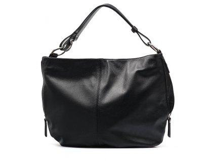 Kožená kabelka Terry černá