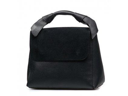 Kožená kabelka Rossa černá