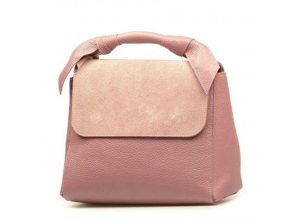 Kožená kabelka Rossa růžová