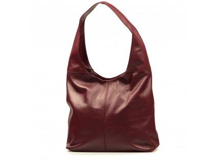 Kožená kabelka Soraya bordó