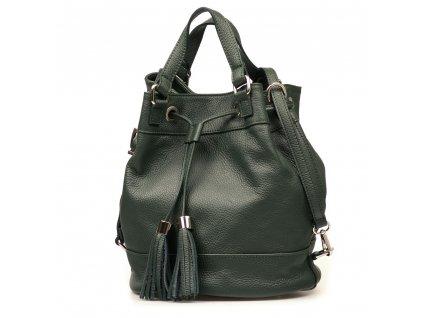 Kožená kabelka Cilly zelená