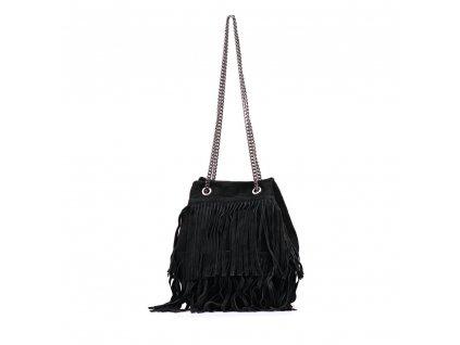 Kožená kabelka Naima černá