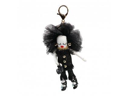Přívěsek s motivem panenky černý