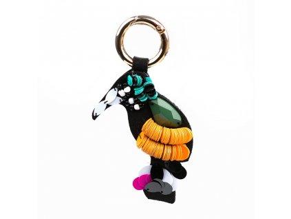 Přívěsek na kabelku s motivem papouška