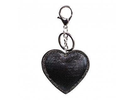Přívěsek s motivem srdce černý