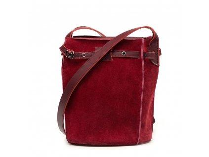 Kožená crossbody kabelka Roxy vínově červená