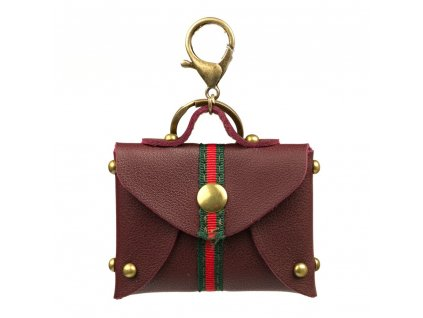 Přívěsek na kabelku s motivem kabelky bordó