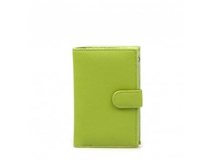 Dámská kožená peněženka Villi zelená