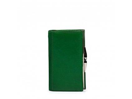 Dámská kožená peněženka Luca zelená