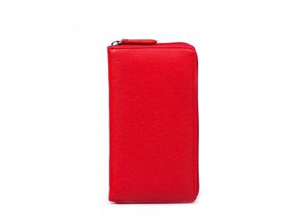 Kožená peněženka Anita červená