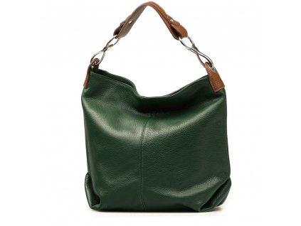 Kožená kabelka Cira zelená