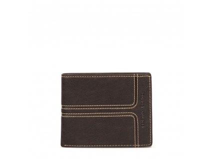 Pánská kožená peněženka Conte hnědá