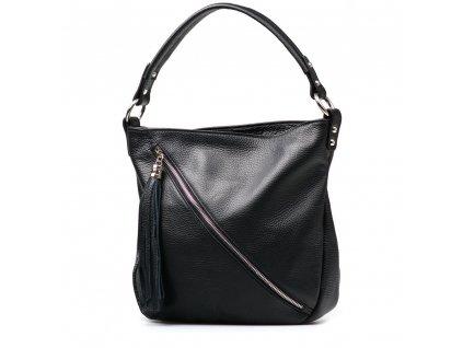 Kožená kabelka Briaga černá