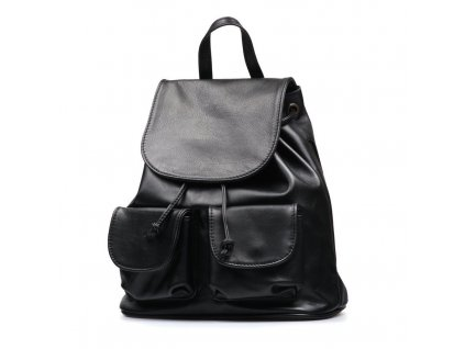 Kožený batůžek Elisea černý