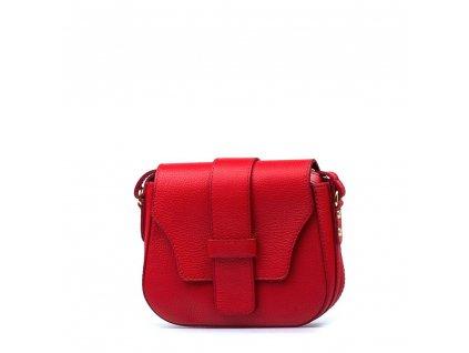 Kožená crossbody kabelka Arden červená