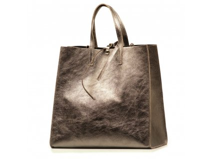Kožená kabelka Belinda bronzová