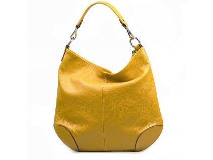 Kožená kabelka Fran hořčicově žlutá