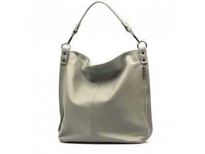 Kožená kabelka Elsa světle šedá