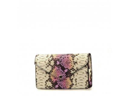 Kožená kabelka - ledvinka Caella lila