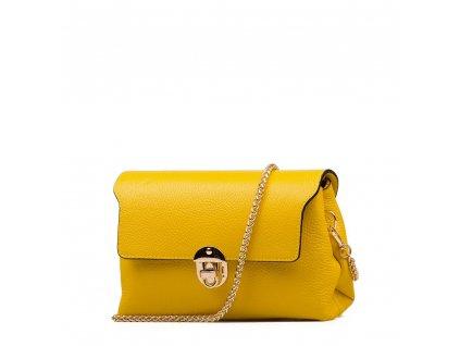 Kožená kabelka Tosca žlutá