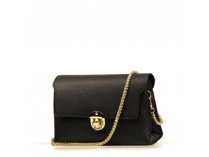 Kožená kabelka Tosca černá
