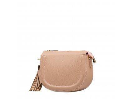 Kožená crossbody kabelka Elsie růžová