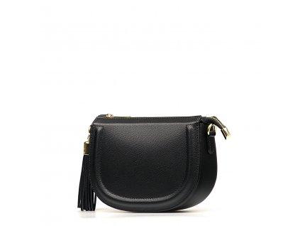 Kožená crossbody kabelka Elsie černá