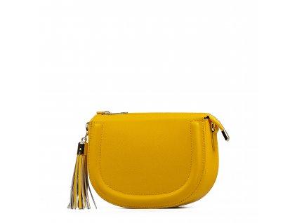 Kožená crossbody kabelka Elsie žlutá