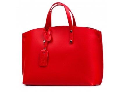 Kožená kabelka Alissa červená