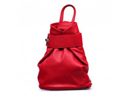 Kožený batůžek Joss červený