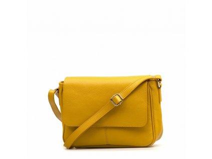 Kožená crossbody kabelka Marion hořčicově žlutá