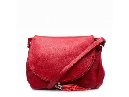 Kožená kabelka Sonia červená