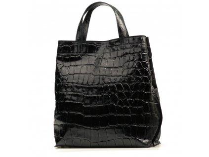 Kožená shopper kabelka Rosan černá