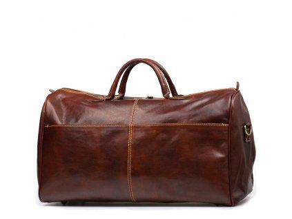 Kožená cestovní taška  Milva hnědá
