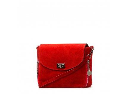 Kožená crossbody kabelka Etta červená