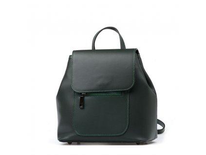 Kožený batůžek Gaston zelený