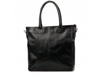 Kožená shopper kabelka Mel černá