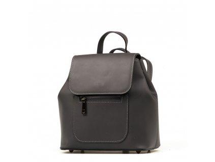 Kožený batůžek Gaston šedý