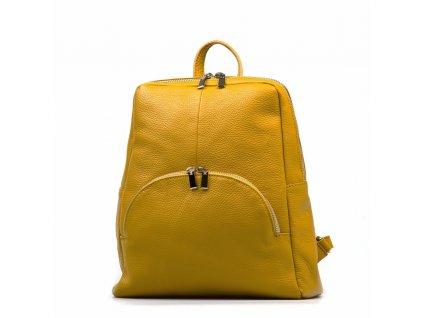 Kožený batůžek Mavis žlutý