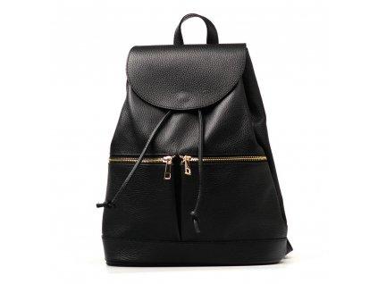 Kožený batůžek Samira černý