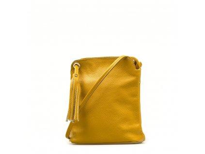 Kožená crossbody kabelka Nala hořčicově žlutá