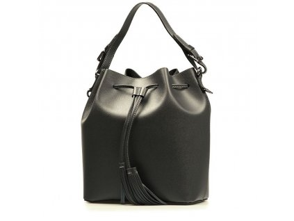 Kožená kabelka Larissa tmavě šedá