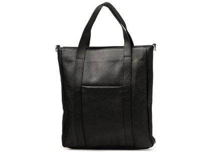 Kožená shopper kabelka Elaide černá
